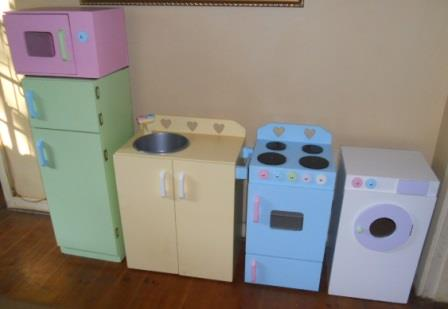 Full kitchen set in beautiful pastel colours