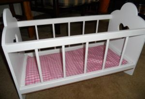 Rocking cot, suitable for a large doll
